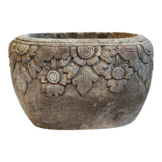 Carved Stone Pot For Sale