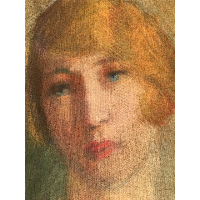 Vintage French Oil Painting Portrait - Image 9 of 10
