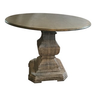 Metal Hand-Hammered and Nailed Tin Artisanal Round Dining Table For Sale