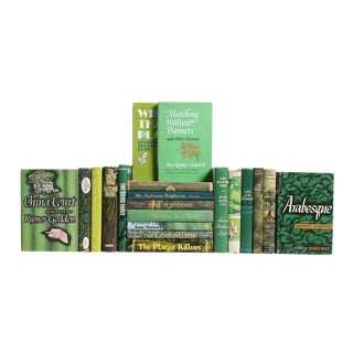 Mid Century Green Novels - Set of 20 For Sale