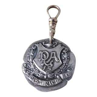 Antique Sterling Silver and Gold Dieges & Clust Hallmarked Medal For Sale