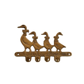 Brass Geese Wall Hooks Fixture For Sale
