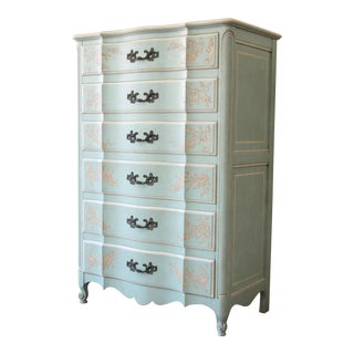 John Widdicomb French Provincial Louis XV Style Highboy Dresser For Sale