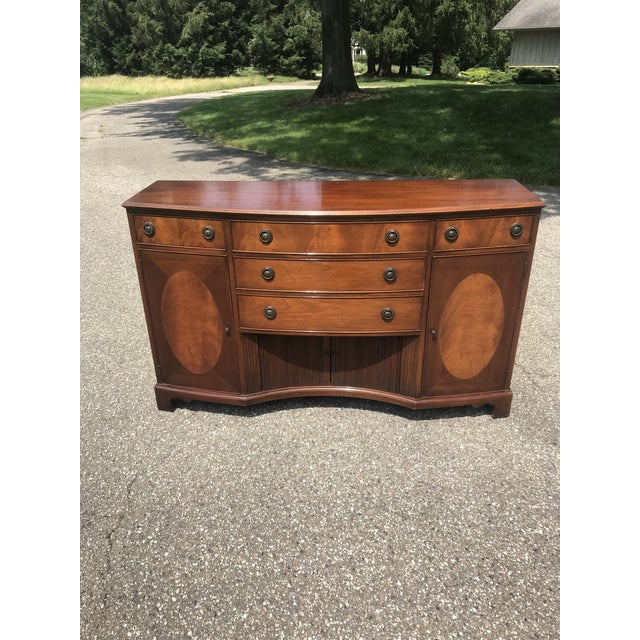 Walnut Credenza With Tambour Doors by Baker Furniture For Sale - Image 12 of 12