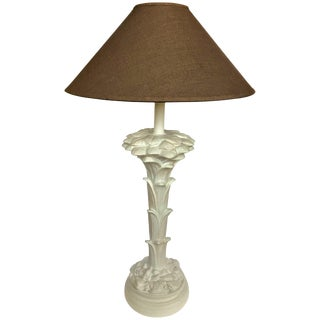 Hollywood Regency Serge Roche Style Palm Tree Table Lamp For Sale