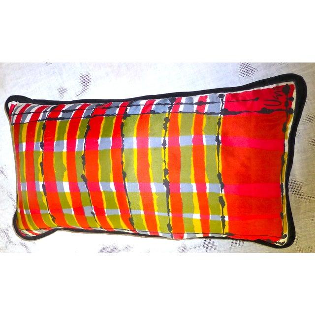 Custom Mid-Century Vera Neumann Scarf Pillow - Image 2 of 6