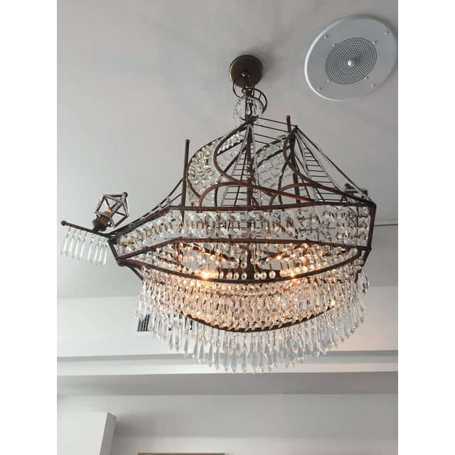 Spanish Galleon Ship Crystal Chandelier, Italy 1990s For Sale - Image 11 of 13