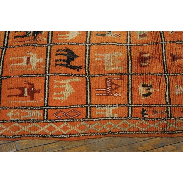 1930s Antique Moroccan Rug For Sale - Image 4 of 6
