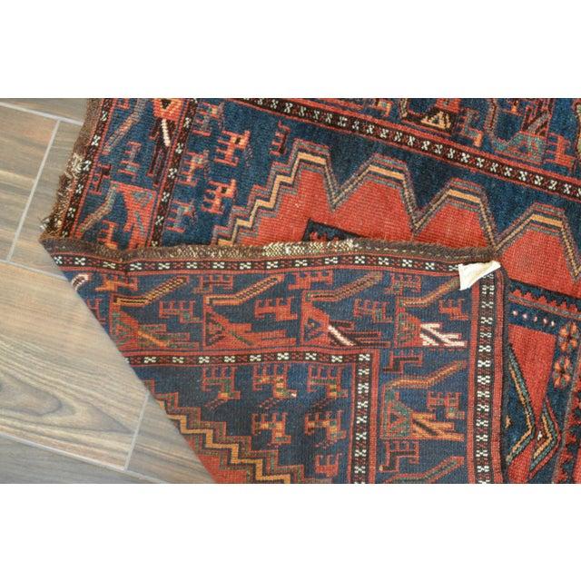 Antique Persian Kelardasht Rug Runner - 4′3″ × 8′6″ For Sale - Image 10 of 10