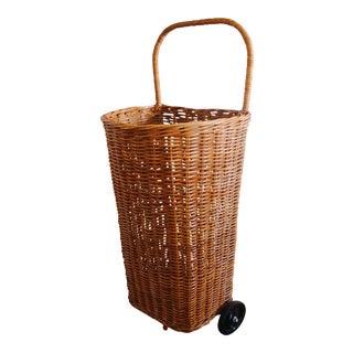 Rattan Rolling Basket