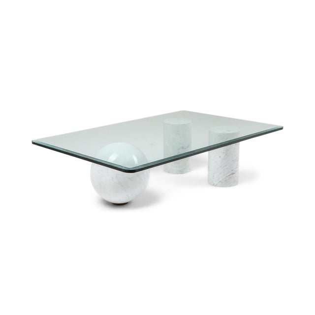 White Italian White Marble Coffee Table by Massimo Vignelli For Sale - Image 8 of 8