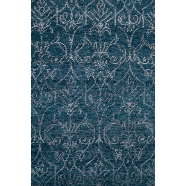 Stark Studio Rugs Stark Studio Rugs Contemporary Oriental Wool and Bamboo Silk Rug - 6' X 9' For Sale - Image 4 of 5