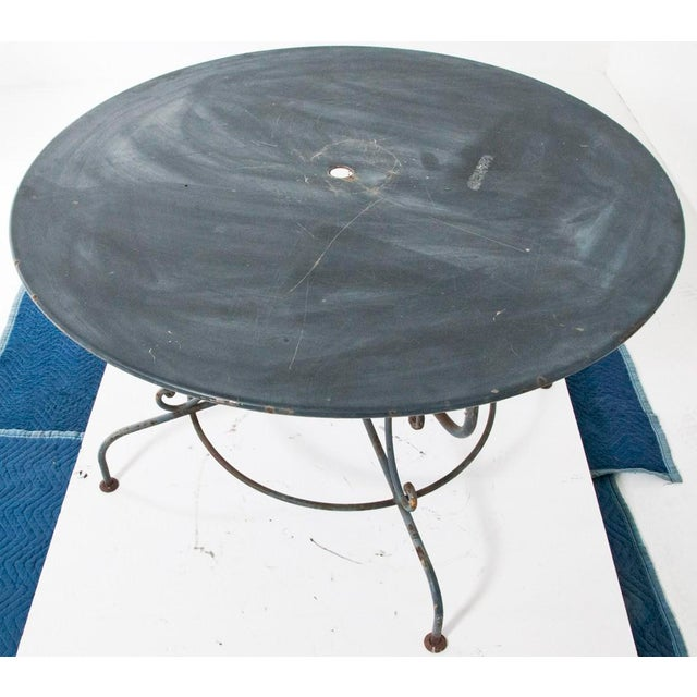 French 1950s Large Mid Century French Garden Table For Sale - Image 3 of 4