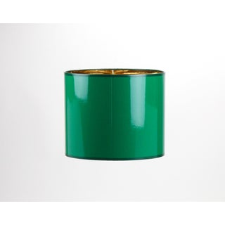 Small High Gloss Emerald Green Drum Lampshade Preview