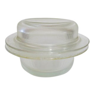 Vintage 1970s Heller Glass Bakeware Covered Casserole by Vignelli For Sale