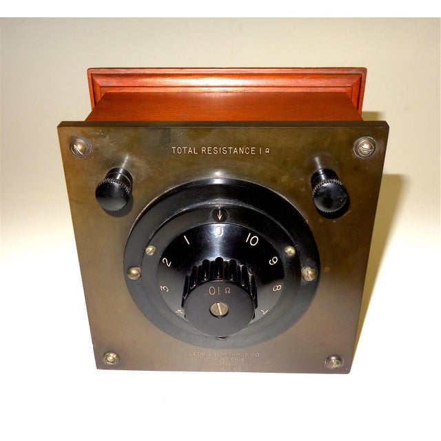 "Offered for your consideration is this Leeds & Northrup electrical test piece. This ""Total Decade Resistance"" piece was..."