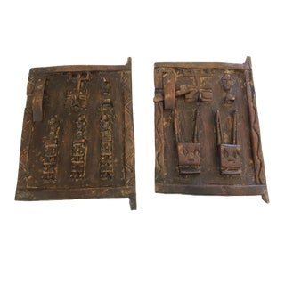 African Dogon Miniature Granary Doors / Mali - A Pair