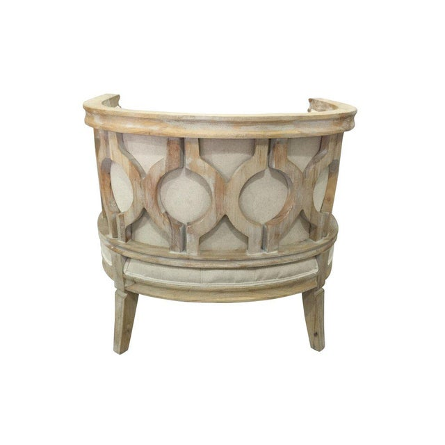 Contemporary Lily Barrel Accent Chair For Sale - Image 3 of 4