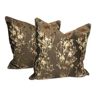 Cut Velvet Pillows - A Pair
