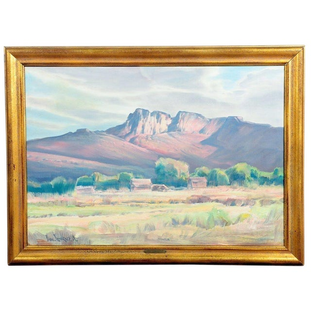 """Paul Lauritz """"Zion National Park"""" Oil Painting - Image 1 of 11"""