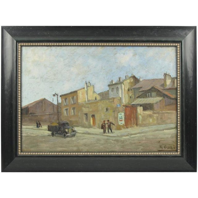 Early 20th Century French Street Scene Oil Painting Signed R. Gori - Image 8 of 8