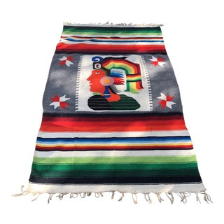 Inca Warrior Handwoven Tapestry