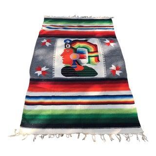 Inca Warrior Handwoven Tapestry For Sale
