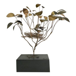 C. Jere Tree With Bird's Nest For Sale