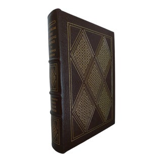 Late 20th Century Vintage Decorative & Illustrated Easton Press Brown Leather Book, Hardy's Far From the Madding Crowd For Sale