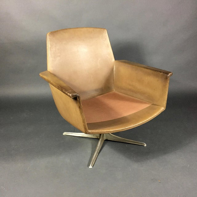 """Sedia"" Leather Armchair by Horst Brüning for Cor Germany 1966 For Sale - Image 9 of 10"