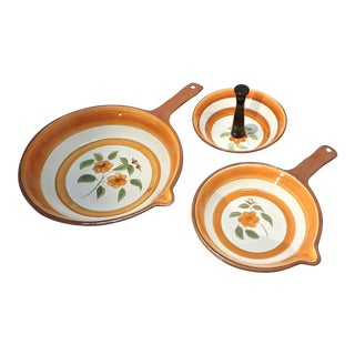 "Stangl ""Bittersweet"" Appetizer Serveware- 3 Pieces For Sale"