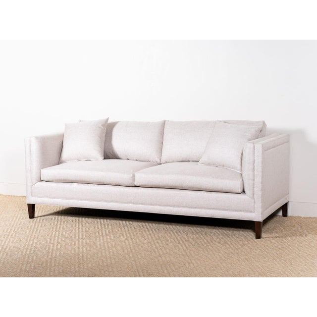 Wood EJ Victor Upholstered Debra Sofa on Legs For Sale - Image 7 of 7