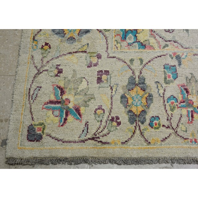 """1980s Vintage Turkish Hand Woven Oushak Rug With Allover Design and Silky Soft Texture,9'7""""x13' For Sale - Image 5 of 7"""
