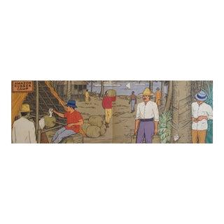 Original 1940 American Panel Poster, Rubber Plantation in Brazil