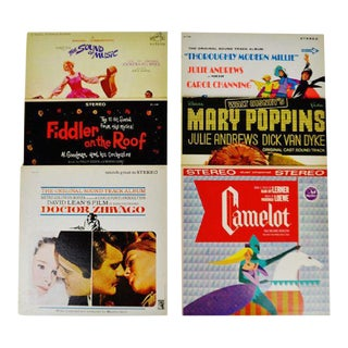 Collection of 6 Vintage Decorative Motion Picture Soundtrack Lp Covers For Sale