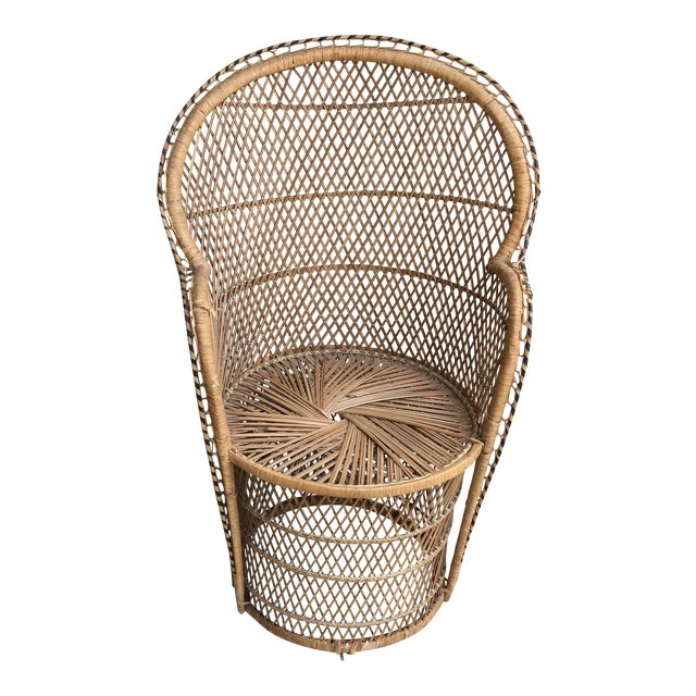 Vintage Boho Chic Wicker Chair - Image 1 of 10