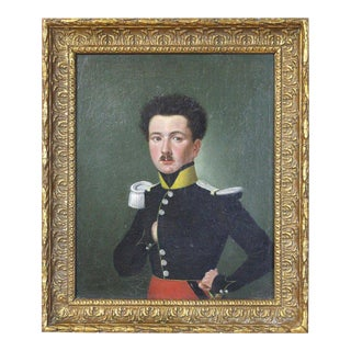 Early 19th Century Portrait of a French Officer For Sale