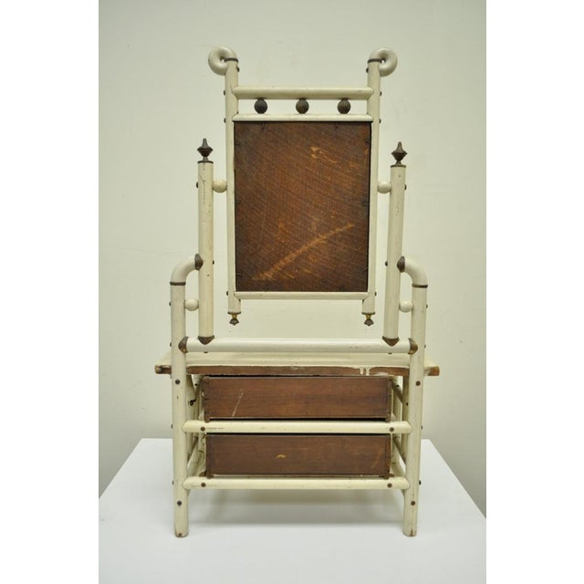 Item: Beautiful Antique Arts & Crafts Salesman Sample Bentwood Dresser w/ Mirror, Item features a solid wood construction...
