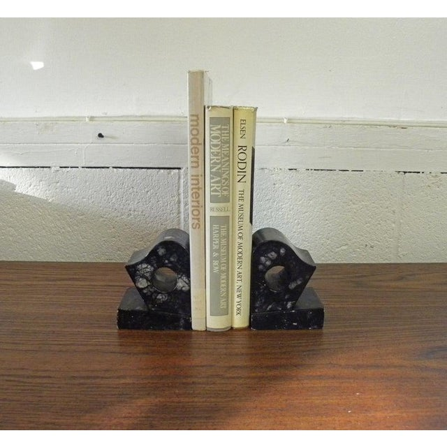 1960s Vintage Contemporary Agate Marble Bookends - Set of 2 For Sale - Image 5 of 6