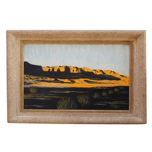 Vintage Modern Impressionist Oil Painting 1950s - Image 1 of 4