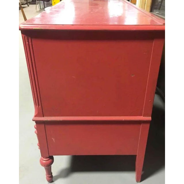 Mahogany Berkey and Gay Pink Chest of Drawers, Dresser, Signed For Sale - Image 7 of 10
