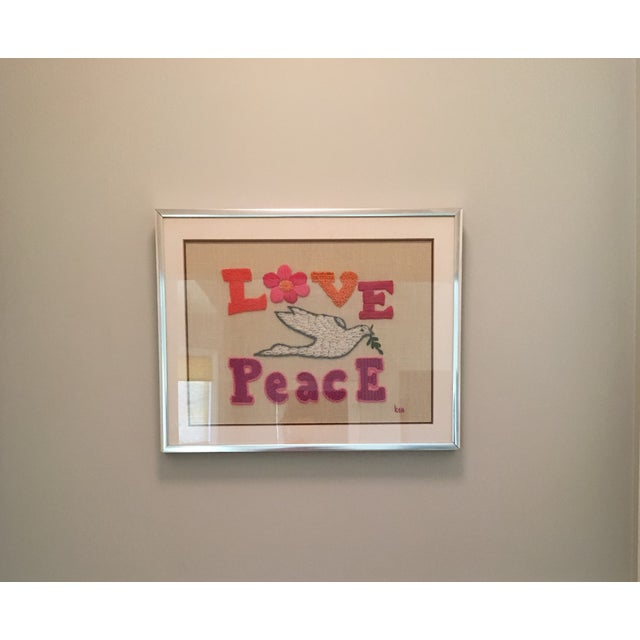 Love & Peace Framed Embroidery - Image 3 of 8