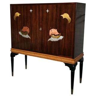 1940s Macassar Ebony Bar/Cabinet For Sale