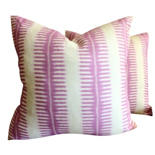 C & C Milano Zip-Zip Orchid Down Pillows - a Pair For Sale