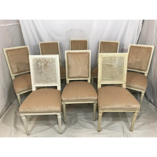 Louis XVI Style Dining Chairs Set of 8 For Sale - Image 9 of 9