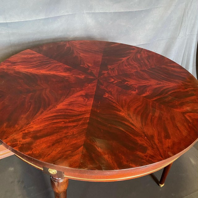 Neoclassical French Neoclassical Empire Style Round Side Table Dining Table For Sale - Image 3 of 10