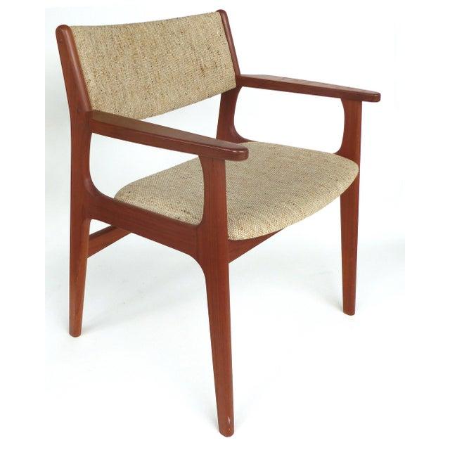Wood Scandinavian Modern Teak Armchairs - a Pair For Sale - Image 7 of 13