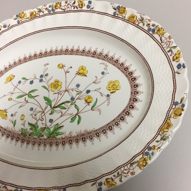 English Spode Copeland Iconic Buttercup Large Oval Serving Platter For Sale - Image 3 of 8