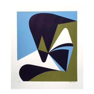 """Abstraction #3"" Contemporary Abstract Silkscreen Print For Sale"