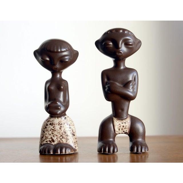 Ceramic 1950s Mid Century Howard Pierce Ceramic Tribal Couple Figurines - a Pair For Sale - Image 7 of 7